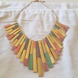Gold & Pastel Statement Necklace Never worn